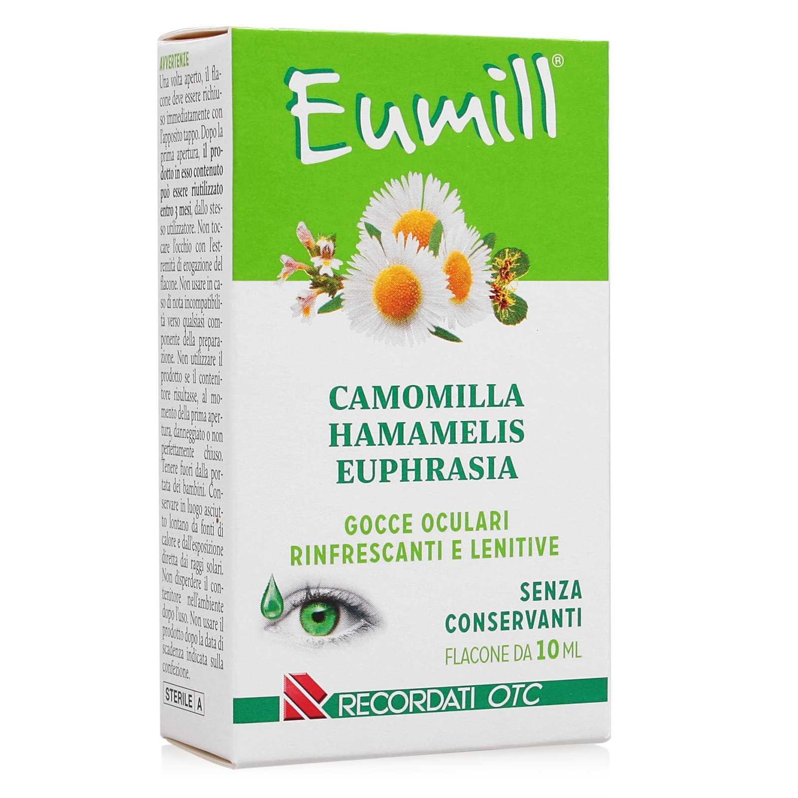 Eumill Camomilla Euphrasia E Hamamelis Collirio Pluridose 10ml Farmacia Roggia