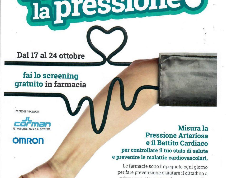 MISURAZIONE GRATUITA DELLA PRESSIONE ARTERIOSA